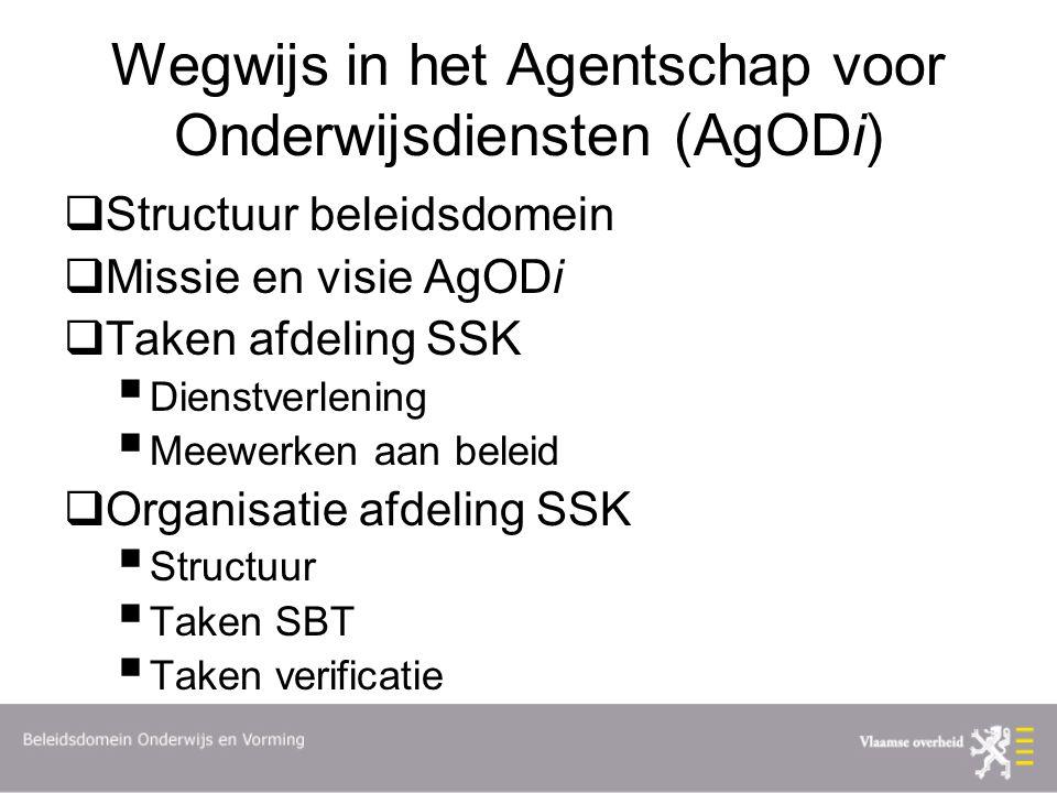 Wegwijs in het Agentschap voor Onderwijsdiensten (AgODi)