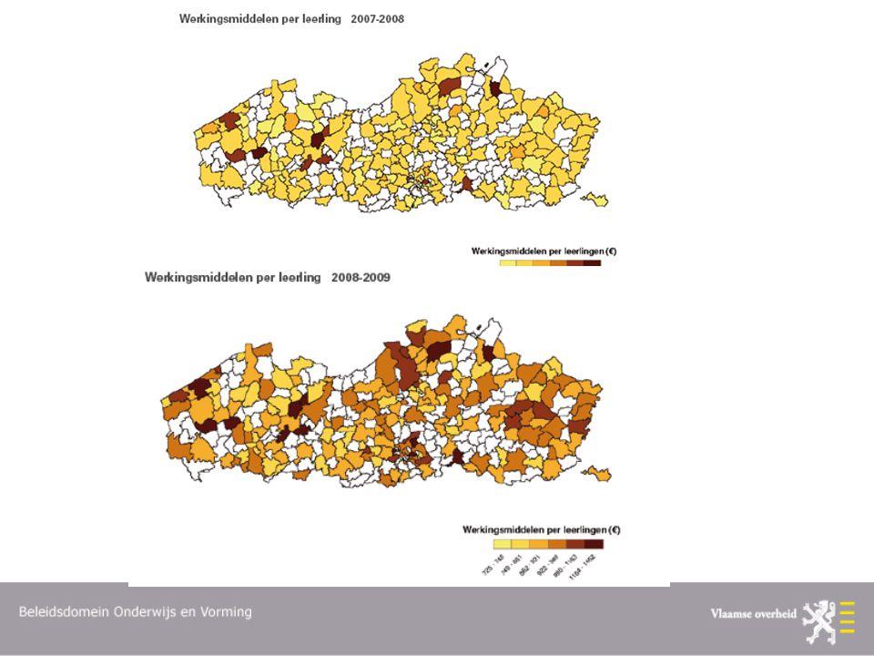 Wijziging in finncieringssysteem: sinds 2008 werk midd op basis van GOK kenmerken.