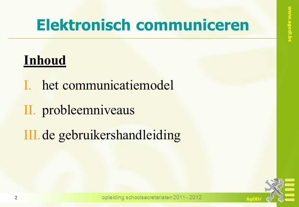 Elektronisch communiceren