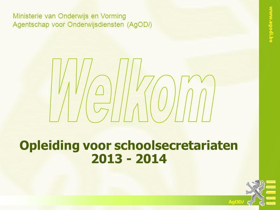 Opleiding voor schoolsecretariaten 2013 - 2014