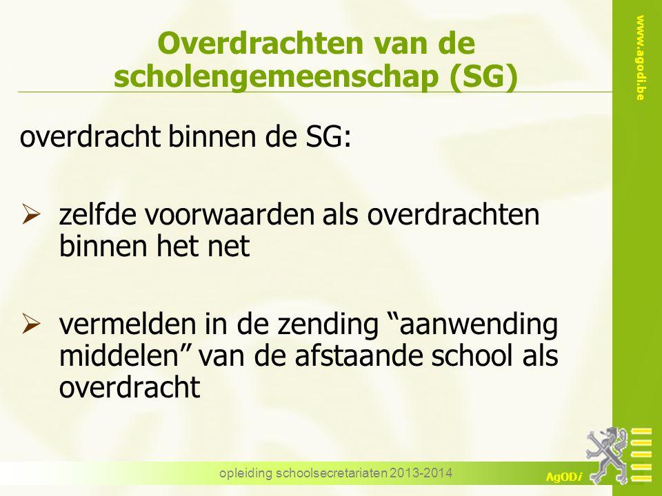 Overdrachten van de scholengemeenschap (SG)