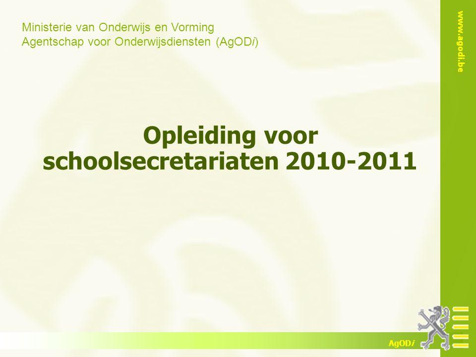 Opleiding voor schoolsecretariaten 2010-2011