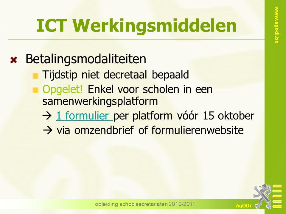 opleiding schoolsecretariaten 2010-2011