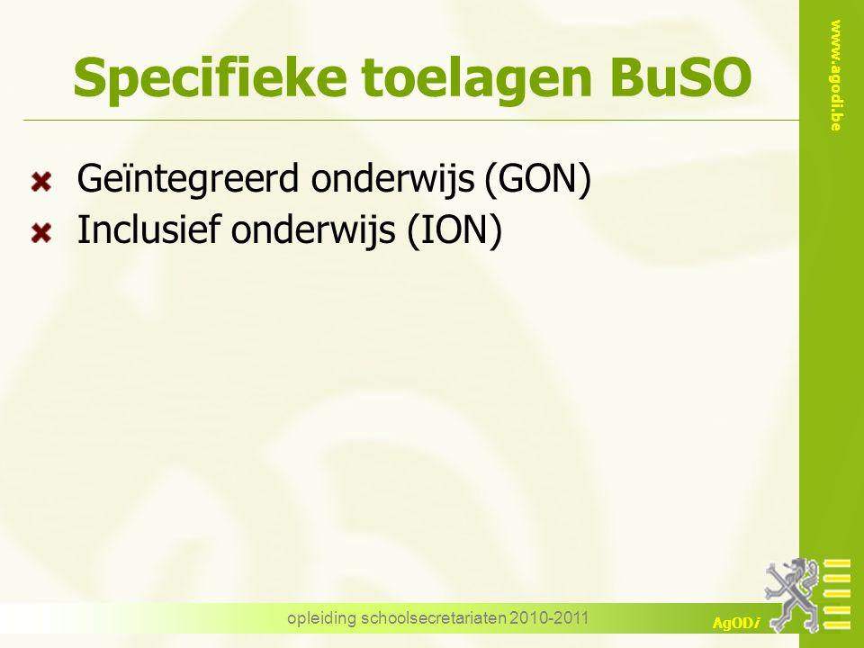 Specifieke toelagen BuSO