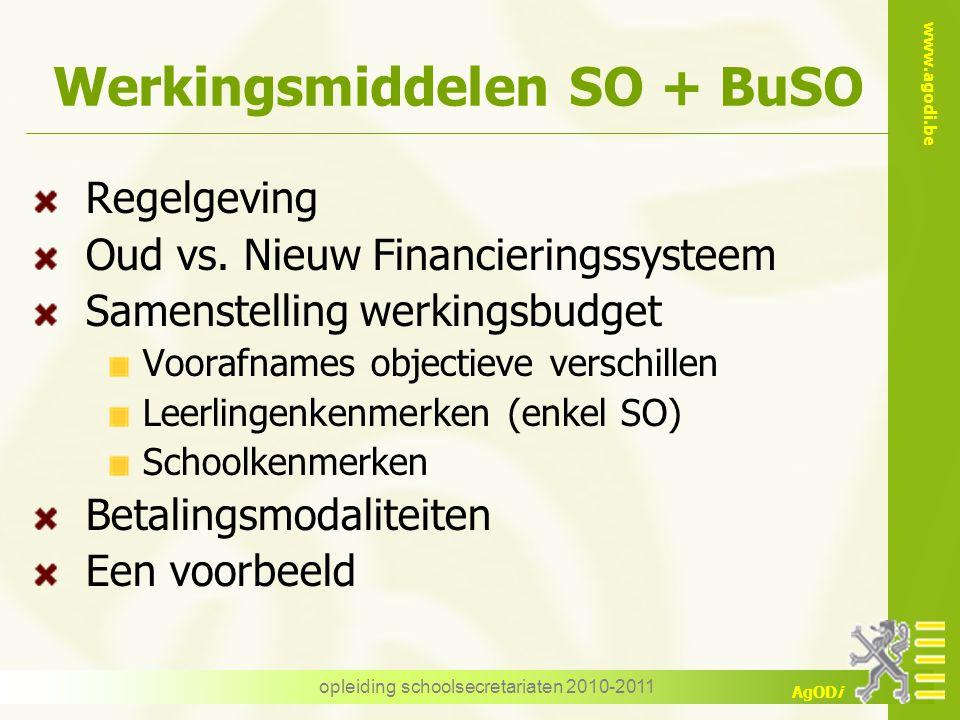 Werkingsmiddelen SO + BuSO