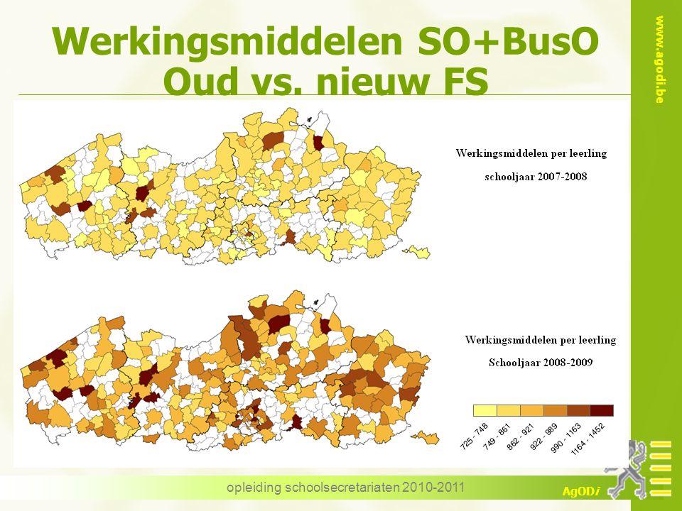 Werkingsmiddelen SO+BusO Oud vs. nieuw FS
