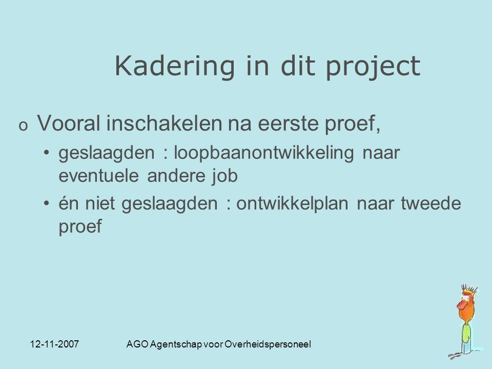 Kadering in dit project