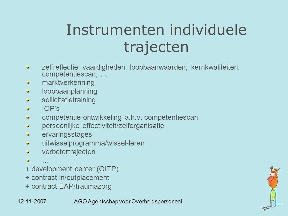 Instrumenten individuele trajecten