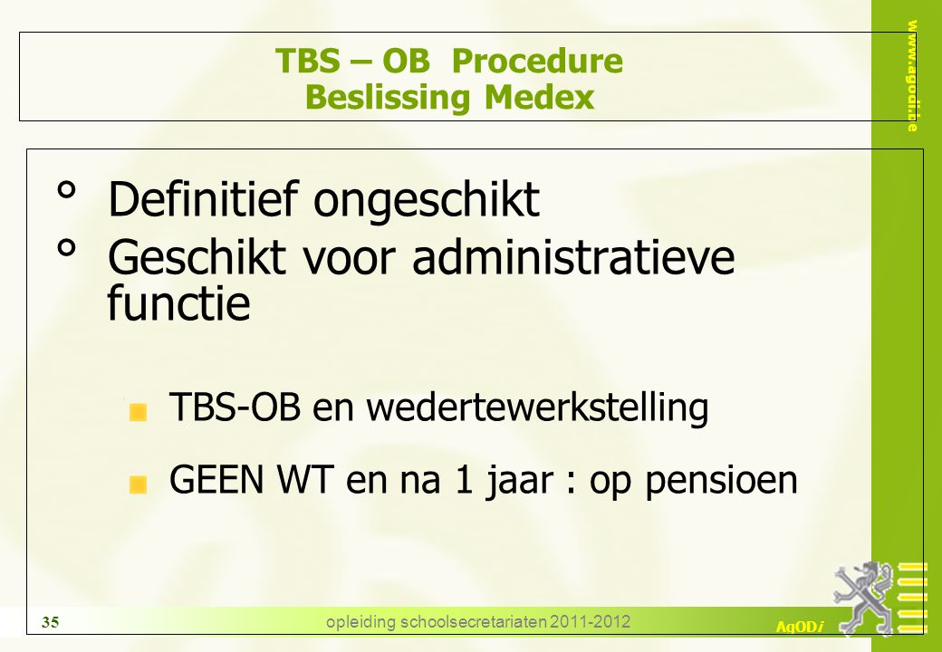 TBS – OB Procedure Beslissing Medex