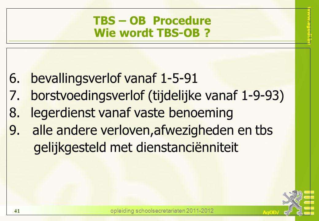 TBS – OB Procedure Wie wordt TBS-OB