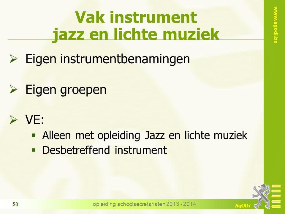 Vak instrument jazz en lichte muziek