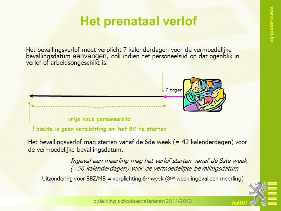 Het prenataal verlof
