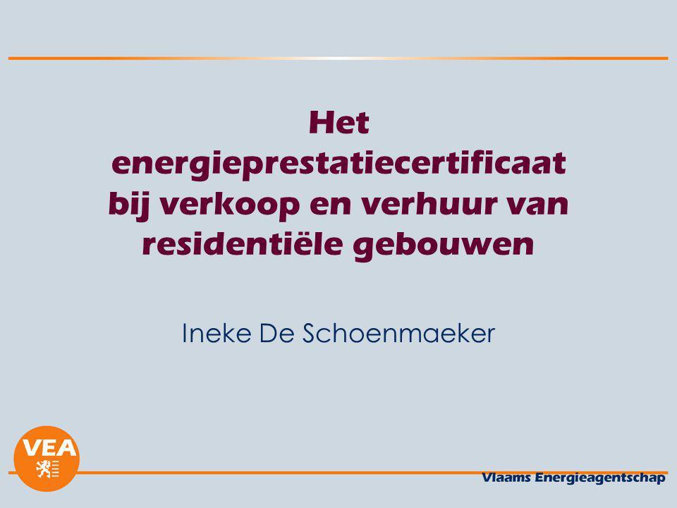 Het energieprestatiecertificaat bij verkoop en verhuur van residentiële gebouwen