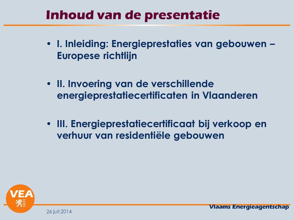 Inhoud van de presentatie