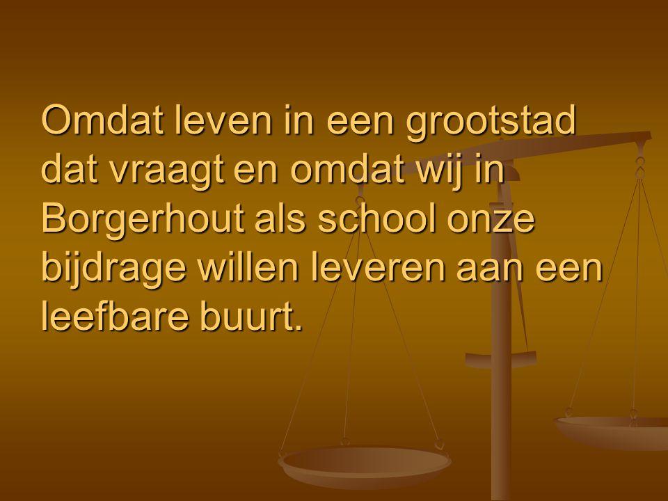Omdat leven in een grootstad dat vraagt en omdat wij in Borgerhout als school onze bijdrage willen leveren aan een leefbare buurt.
