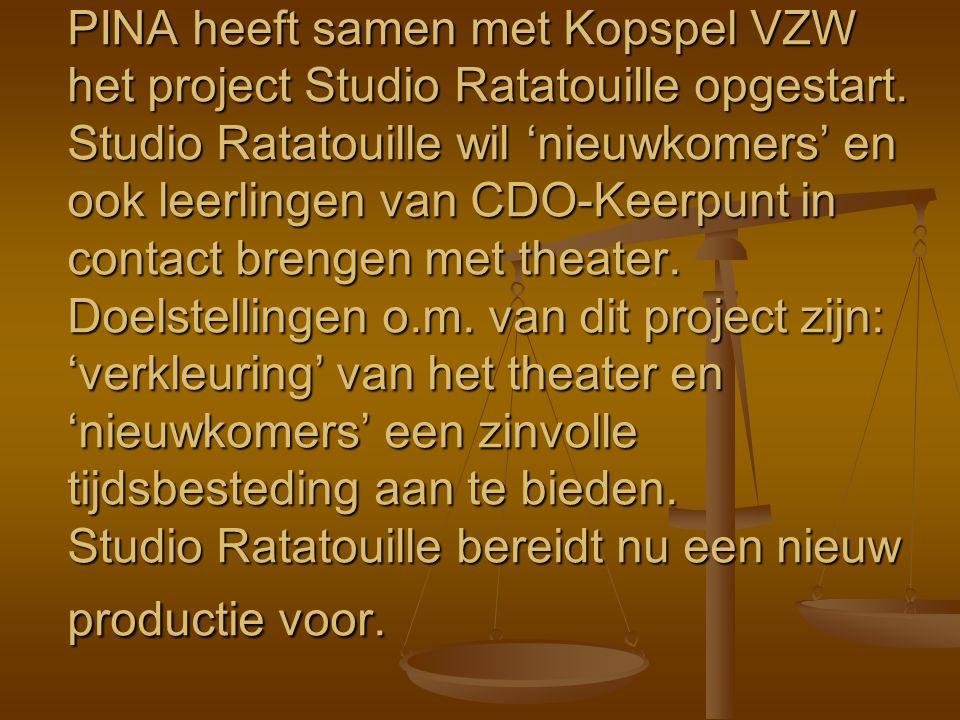 PINA heeft samen met Kopspel VZW het project Studio Ratatouille opgestart.