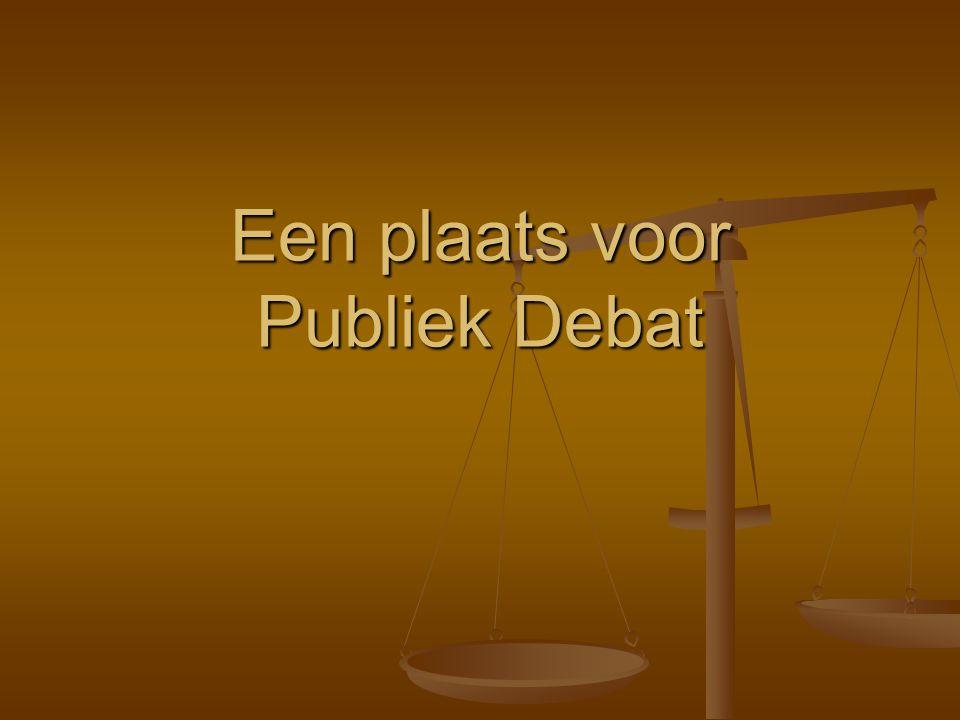 Een plaats voor Publiek Debat