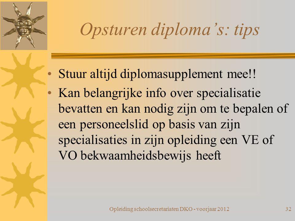 Opsturen diploma's: tips