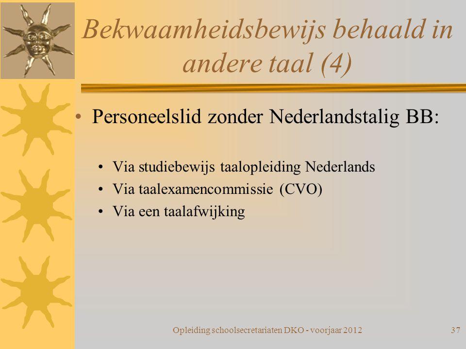 Bekwaamheidsbewijs behaald in andere taal (4)