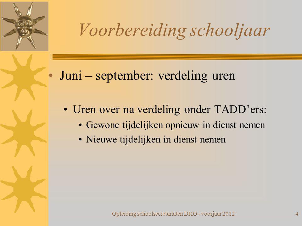 Voorbereiding schooljaar