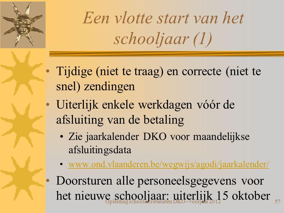 Een vlotte start van het schooljaar (1)