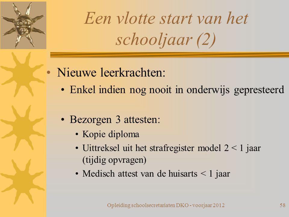 Een vlotte start van het schooljaar (2)