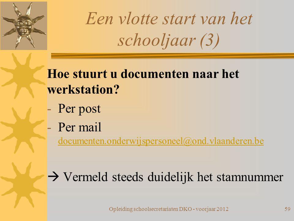 Een vlotte start van het schooljaar (3)