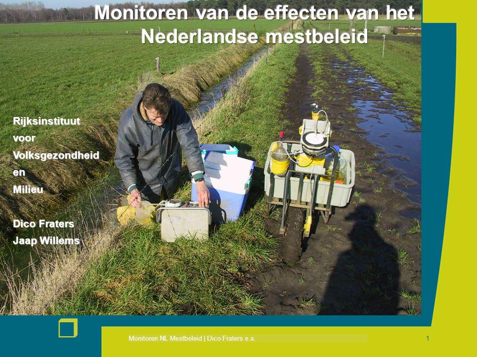 Monitoren van de effecten van het Nederlandse mestbeleid