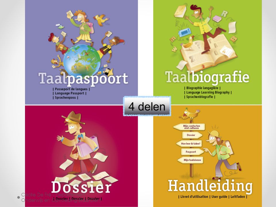 4 delen Cécile De Fré - Departement Onderwijs en Opvoeding Stad Gent