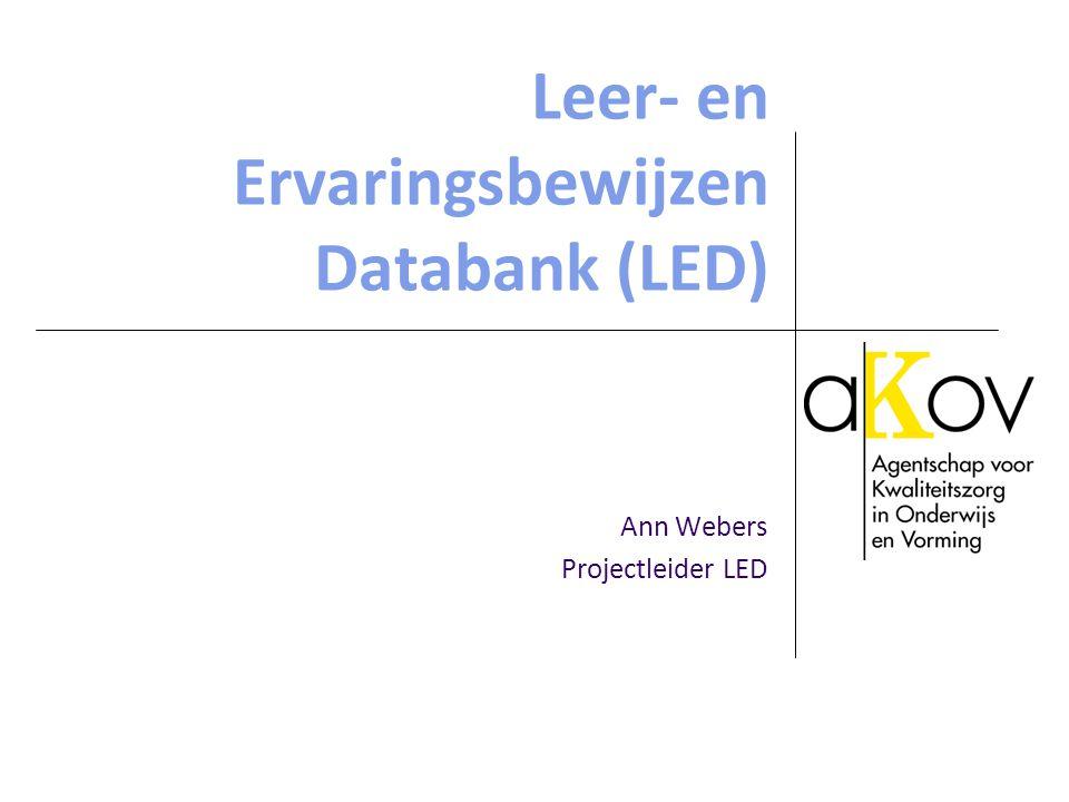 Leer- en Ervaringsbewijzen Databank (LED)
