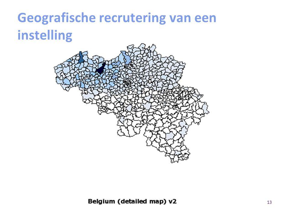 Geografische recrutering van een instelling