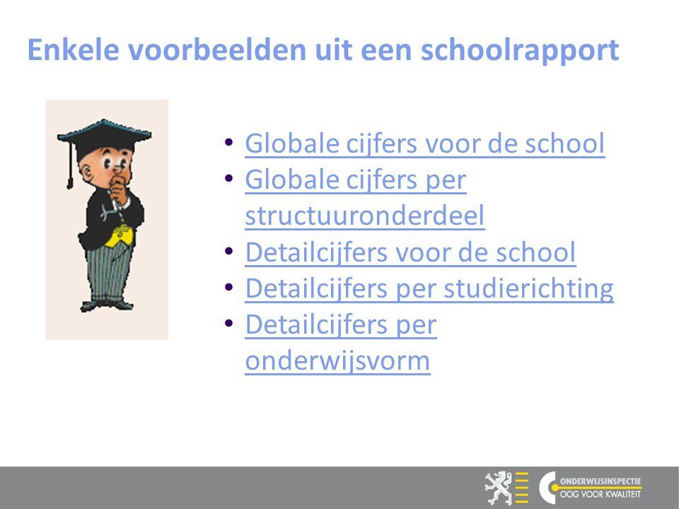 Enkele voorbeelden uit een schoolrapport