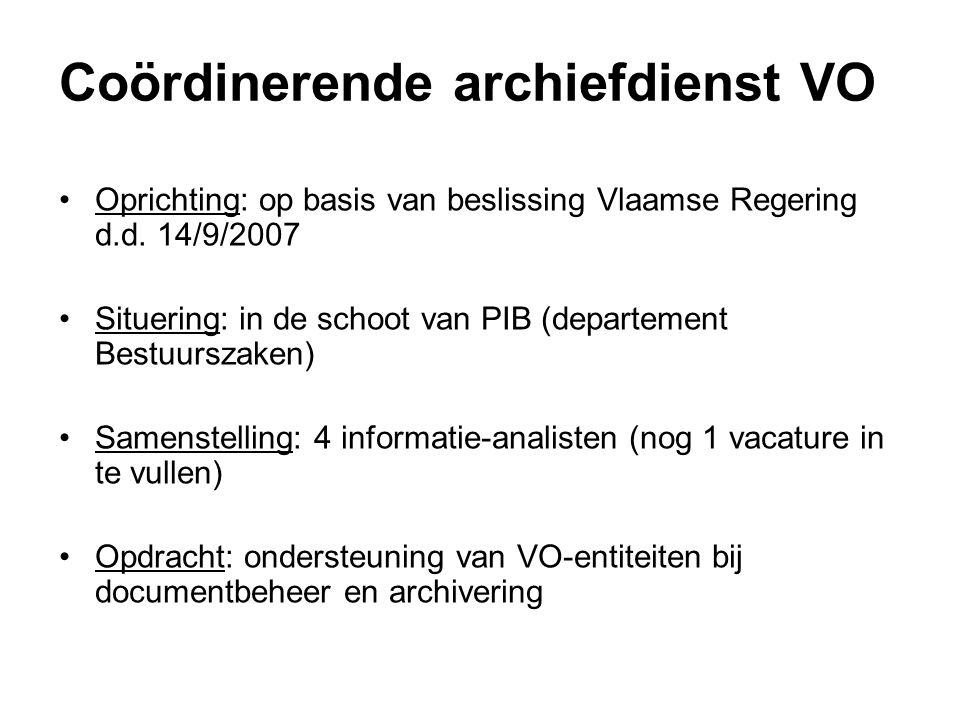 Coördinerende archiefdienst VO