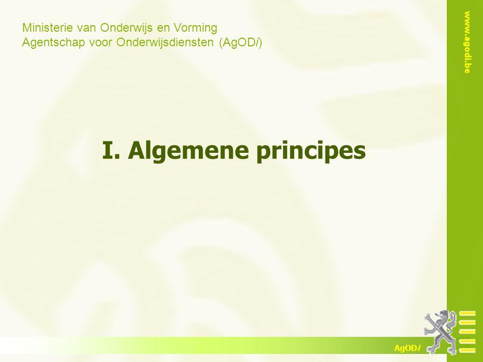 I. Algemene principes