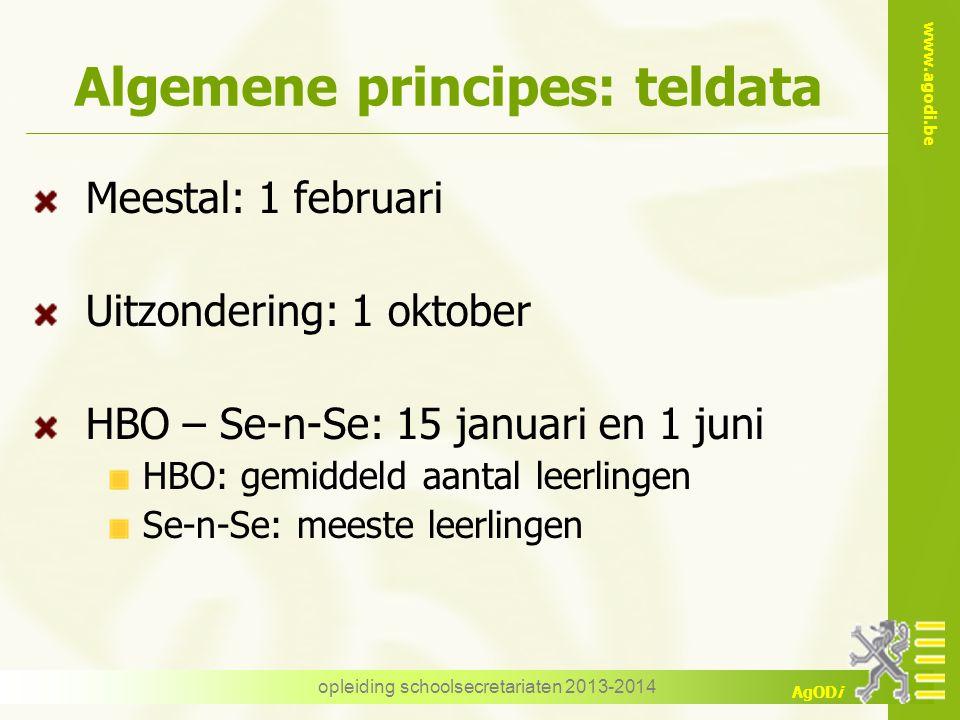 Algemene principes: teldata