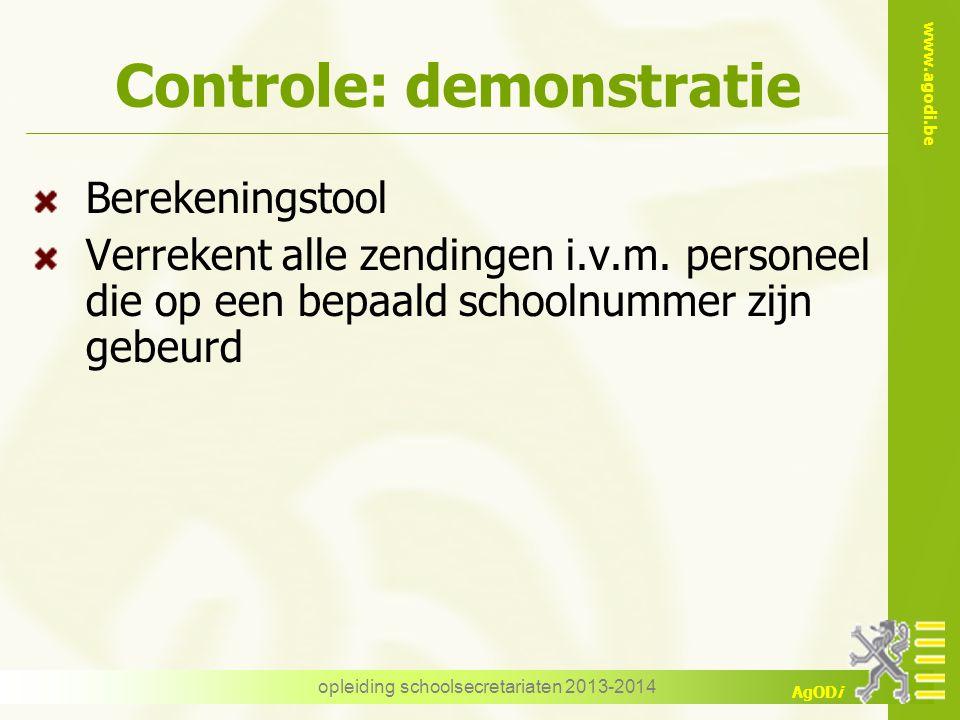 Controle: demonstratie