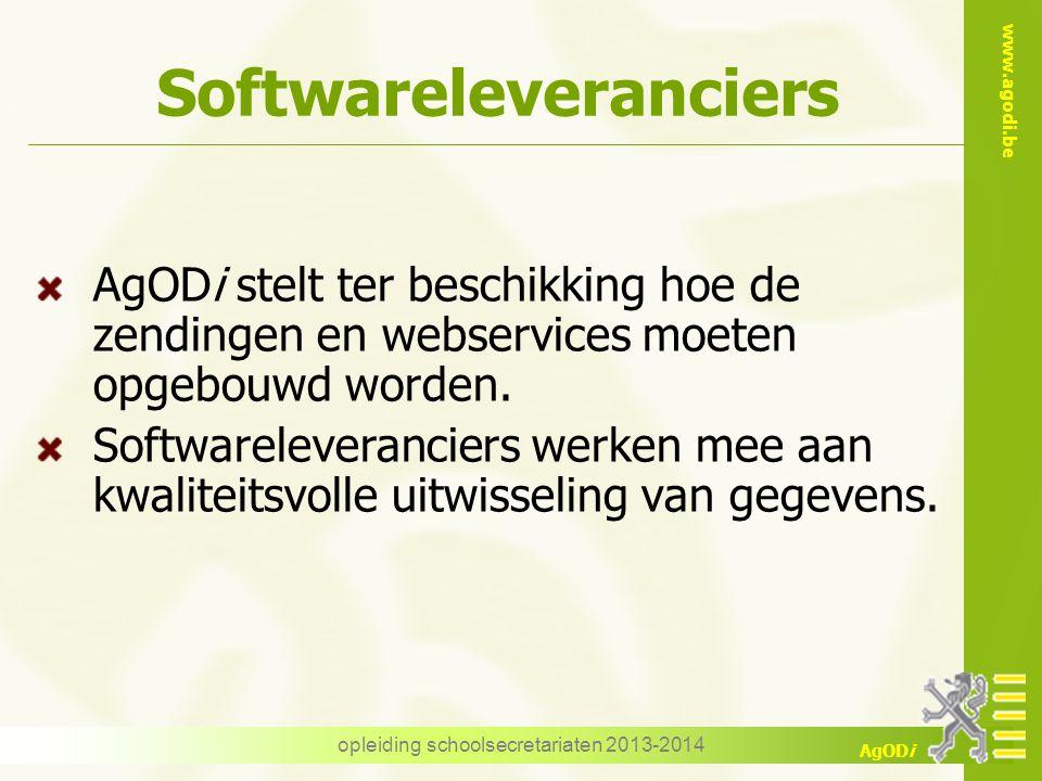 Softwareleveranciers