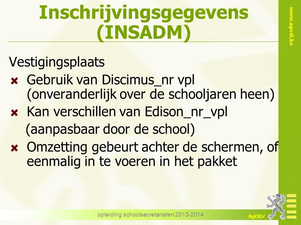 Inschrijvingsgegevens (INSADM)