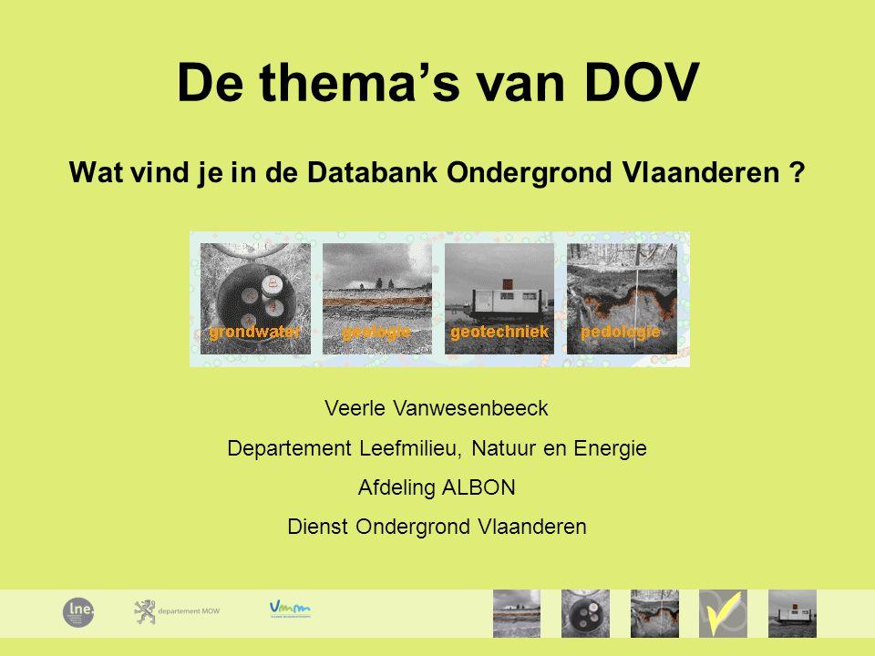 Wat vind je in de Databank Ondergrond Vlaanderen