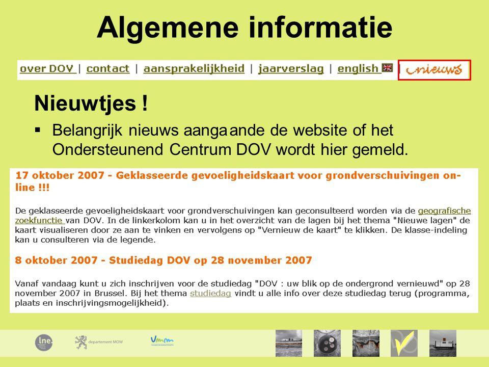 Algemene informatie Nieuwtjes !