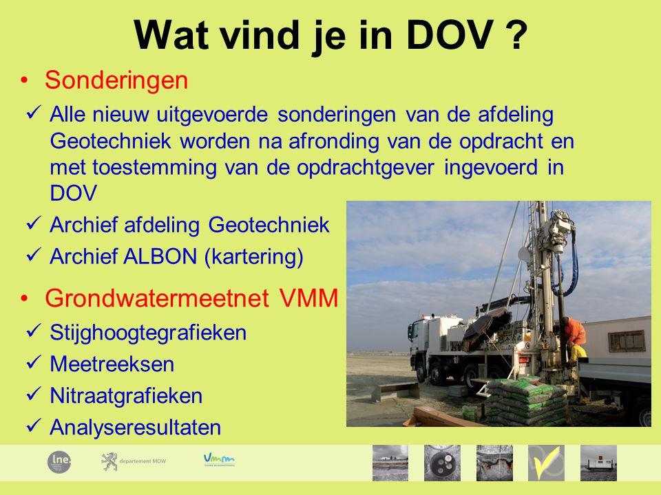 Wat vind je in DOV Sonderingen Grondwatermeetnet VMM