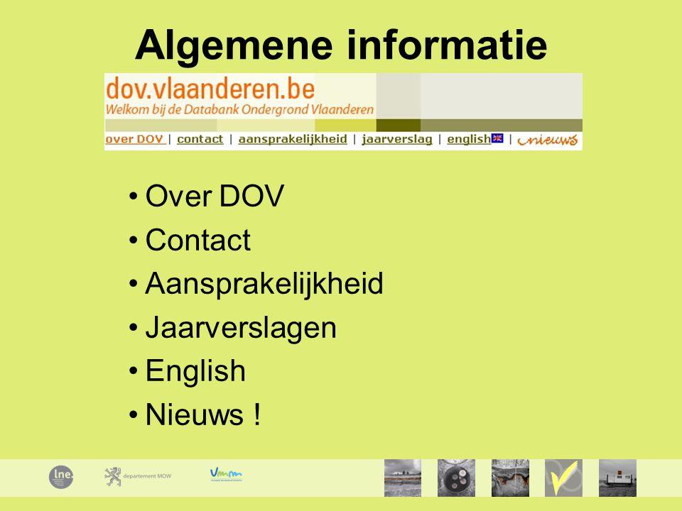 Algemene informatie Over DOV Contact Aansprakelijkheid Jaarverslagen