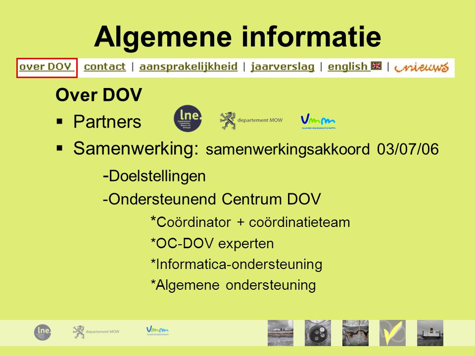 Algemene informatie Over DOV Partners