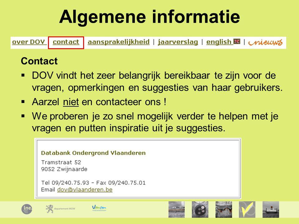 Algemene informatie Contact