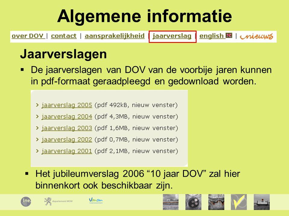 Algemene informatie Jaarverslagen