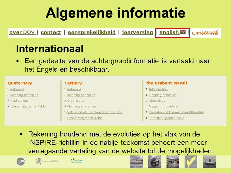 Algemene informatie Internationaal