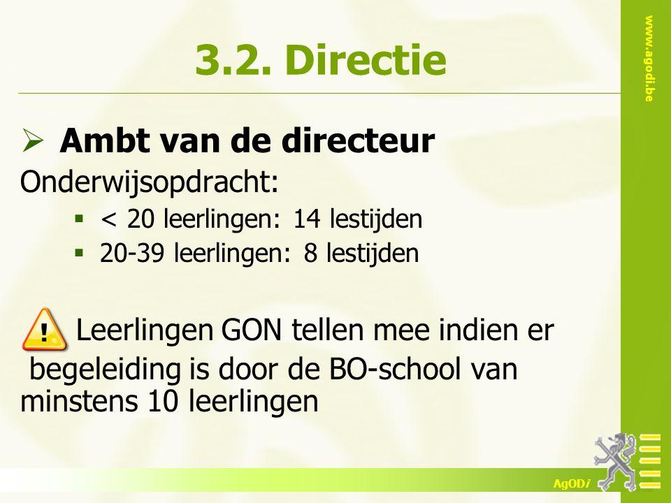 3.2. Directie Ambt van de directeur Onderwijsopdracht: