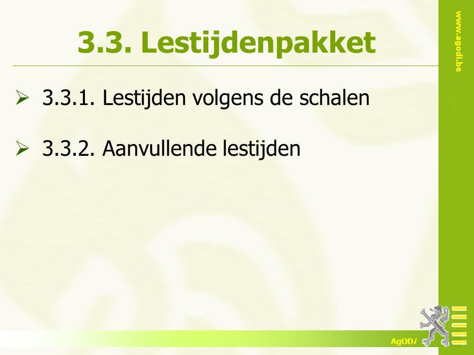 3.3. Lestijdenpakket 3.3.1. Lestijden volgens de schalen