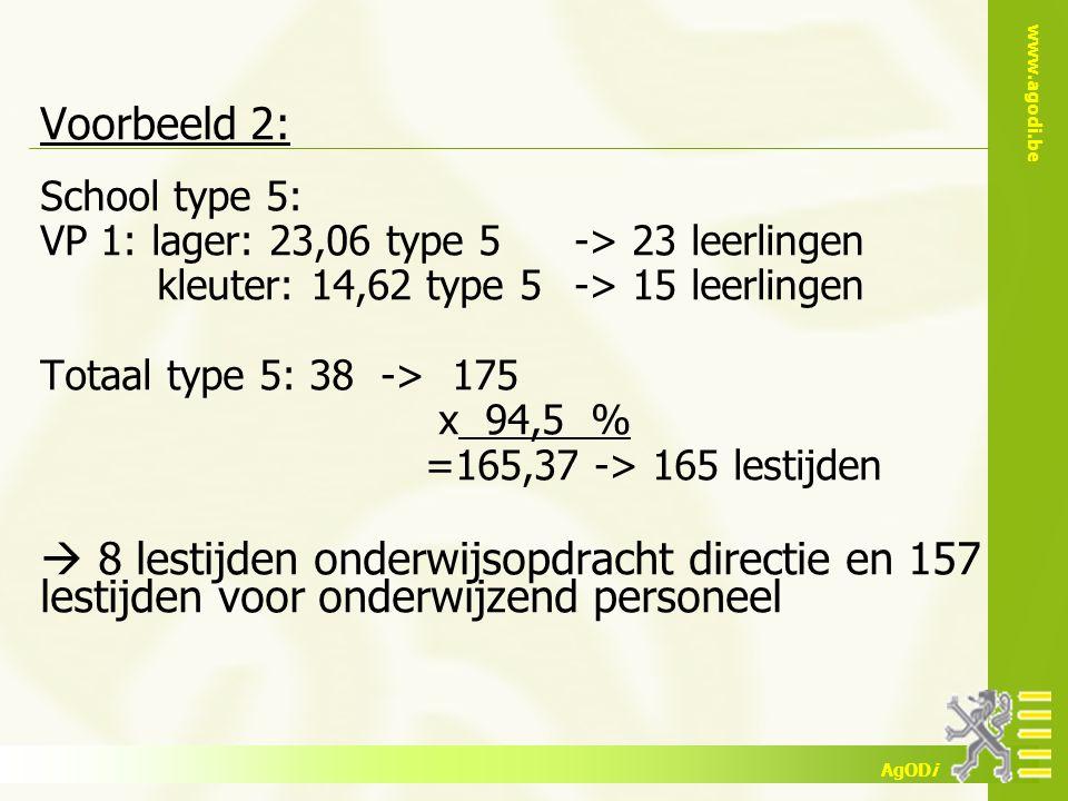 Voorbeeld 2: School type 5:
