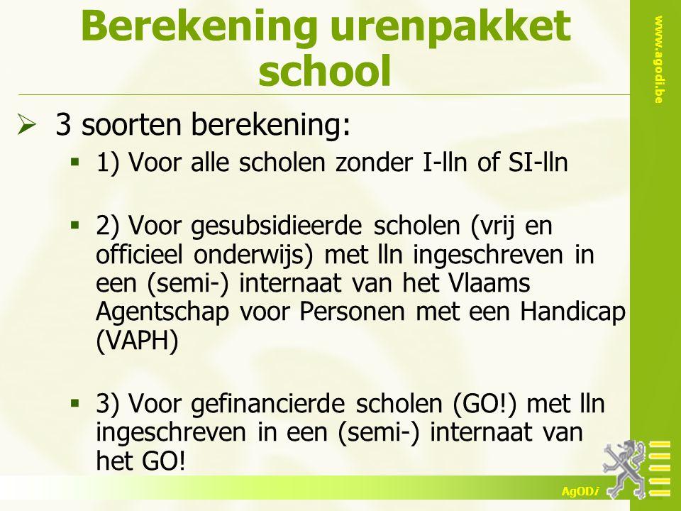 Berekening urenpakket school